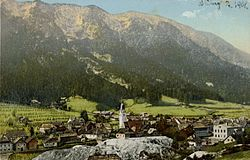 Bad Bleiberg with Mt. Dobratsch, about 1908