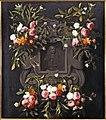 Bloemencartouche rond een beeld van koning-stadhouder Willem III.jpg