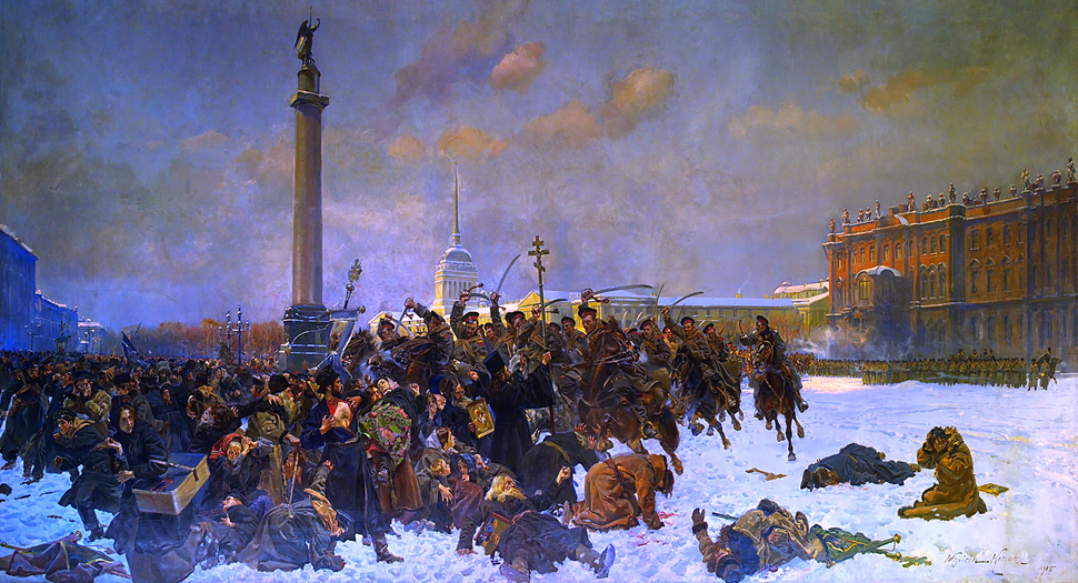 Bloody Sunday in 1905 by Wojciech Kossak