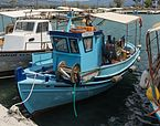 Blue fishing boat harbour Eretria Euboea Greece.jpg