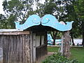 Blue whale of Catoosa - kissing whales sign.jpg