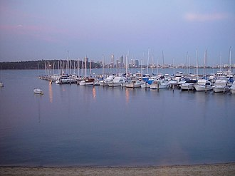 Royal Perth Yacht Club - Boats moored outside RPYC