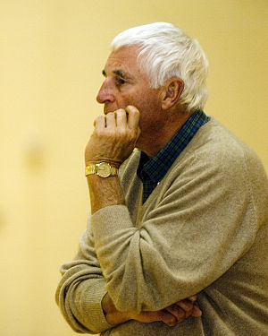 Bob Knight - Knight watches his team practice in November 2007.