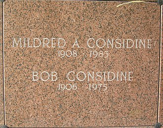 Bob Considine - The crypt of Bob Considine