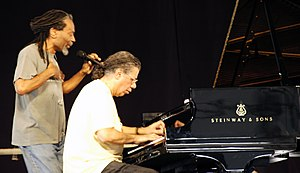 Chick Corea - Bobby McFerrin and Chick Corea, New Orleans Jazz and Heritage Festival in 2008