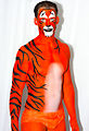 Bodypainted Tiger, Human Statue Bodyart (8274609990).jpg