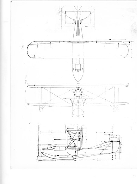 Boeing model B1D 6D drawing