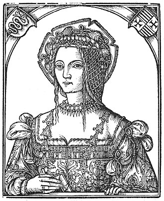 Isabella of Aragon, Duchess of Milan - Isabella's daughter Bona, depicted here in the year that she married (1517)