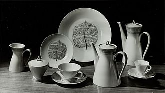 Lucienne Day - Bond Street porcelain plates, pattern designed by Lucienne Day, Rosenthal, 1957