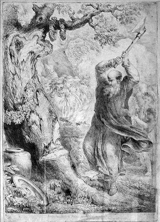 Saint Boniface - Saint Boniface felling Donar's Oak