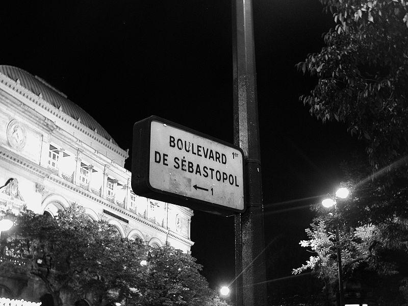 boulevard sebastopol paris bw jpg. Black Bedroom Furniture Sets. Home Design Ideas