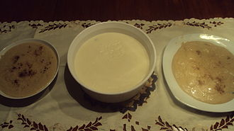 "Manjar blanco - Colombian ""Manjar Blanco"" (center bowl)"