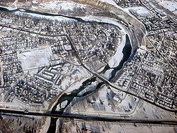 Bowness, Bow River, Bowness Rd, Highway 1.JPG