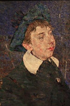 John Quinton Pringle - Boy in a Blue Hat. 1903. Oil on canvas by John Quinton Pringle