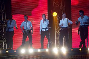 Ronan Keating - Boyzone performing at the tour with Ronan Keating as the lead singer.