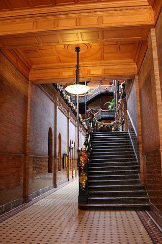 Bradbury Building - An entryway in December 2011