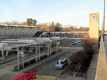 Braintree station busway from garage roof, December 2015.JPG