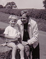 Bram Lowe with son in 1970.jpg