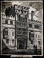 Brasenose College, Oxford; gateway. Lithograph. Wellcome V0014071.jpg