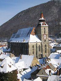 La Iglesia Negra en invierno
