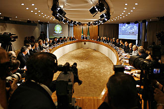 Politics of Brazil - Meeting of the Cabinet of Luiz Inácio Lula da Silva in the Oval Room, Palácio do Planalto, 2007