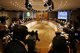 Politics of Brazil - Meeting of the Cabinet of Luiz Inácio Lula da Silva in the Oval Room, Palácio do Planalto, 2007