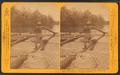 Breasting an oar, just to steady her. Coil of rope on the raft in the foreground, by Bennett, H. H. (Henry Hamilton), 1843-1908.png
