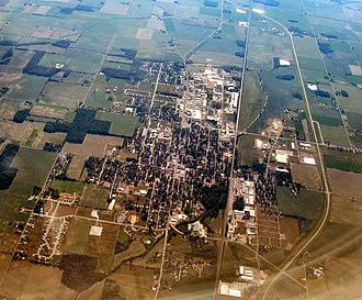 Bremen, Indiana - Bremen, Indiana from the air
