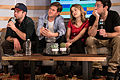 Brent Morin, Bill Lawrence, Bridgit Mendler, Rick Glassman from NBC Undateable.jpg