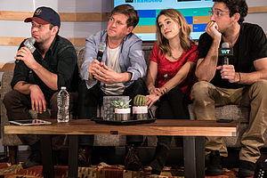 Brent Morin - Morin (left) with the cast of Undateable, in 2015.