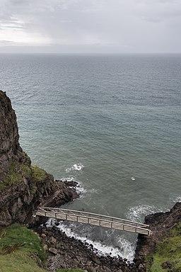 Bridge at The Gobbins - Islandmagee, Northern Ireland, UK - August 14, 2017
