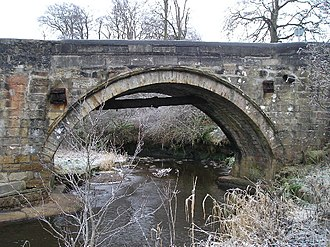 Rotten Calder - Stone bridge over Rotten Calder at Newhousemill Road on the edge of East Kilbride