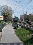 Bridge over the Rákos stream, Rákosfalva, 2018 Zugló.jpg