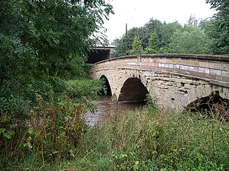 River Sowe - The bridge over the River Sowe near the Mill in Baginton