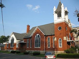 Montrose Historic District (Montrose, Pennsylvania) - Image: Bridgewater Baptist Church Montrose Historic District Aug 09