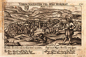 Bishopric of Brixen - View of Brixen, early 17th century