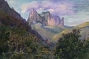 Brooklyn Museum - Diadem Mountain at Sunset, Tahiti - John La Farge - overall
