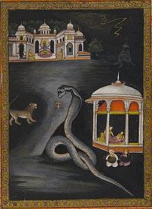 Krishna Carried Across the River