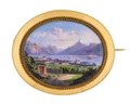 Brosch med miniatyrmålning, 1860 - Hallwylska museet - 109705.tif