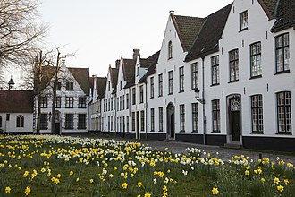 Beguinage - View of the Beguinage in Bruges