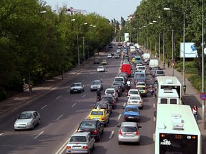 Bucharest Traffic in Băneasa.