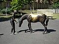 Bucuresti, Romania. Oraselul copiilor. Fetita cu calul ei.jpg