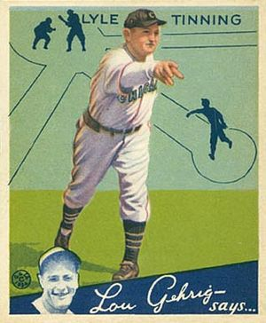 Bud Tinning - Bud Tinning 1934 Goudey card.