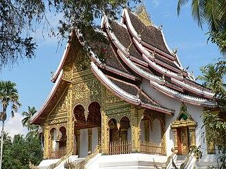 Luang Prabang - Buddhist Temple at Haw Kham (Royal Palace) complex