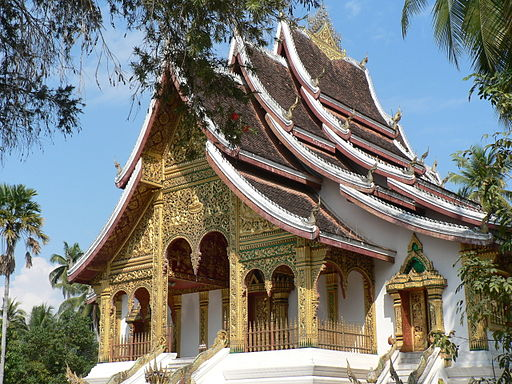 Buddhist temple at Royal Palace in Luang Prabang