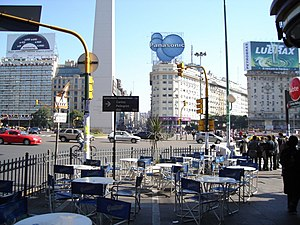 Avenida Corrientes - Intersection with Avenida 9 de Julio