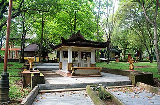 Bukit Seguntang - The tombs complex of local revered figures, on the center is the tomb of Panglima Tuan Junjungan.