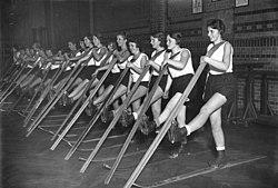 Bundesarchiv B 145 Bild-P049552, Berlin, Skiübungen in der Halle, Skiaufstellen.jpg