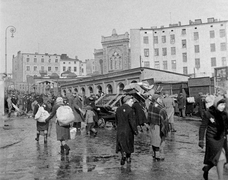 Bundesarchiv Bild 137-051639A, Polen, Ghetto Litzmannstadt, Deportation