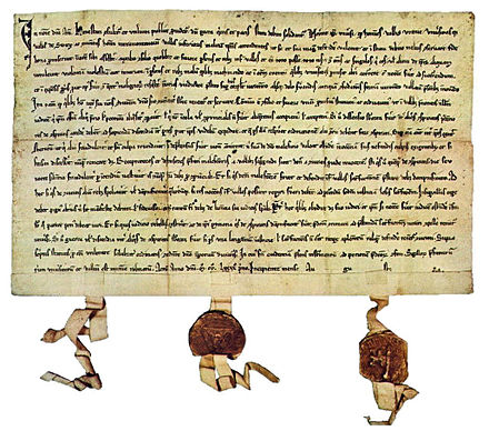 The Federal Charter of 1291, on display in Schwyz
